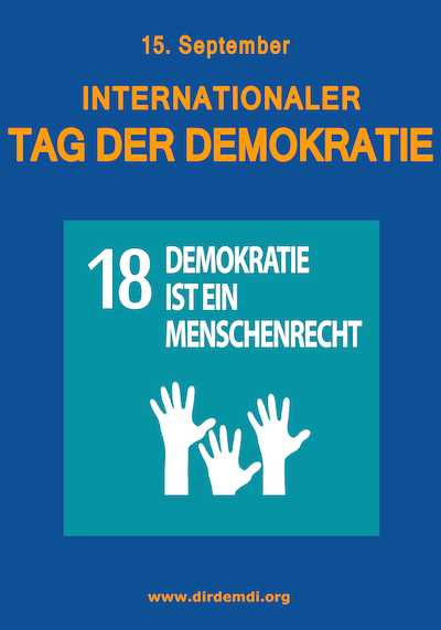 Plakat Internationaler Tag der Demokratie